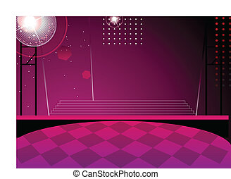 Disco ball and dance floor at Nightclub