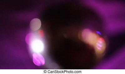 Disco ball at a nightclub.