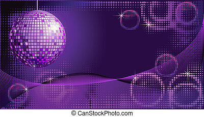 Disco-ball background - Disco background with mirror ball...