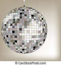 disco ball black, vector art illustration; more disco balls in my gallery