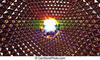 Disco Ball Blinking Background - 4K UHD disco ball blinking...