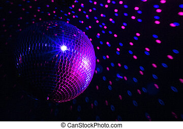 Disco ball blue - purple - Disco ball purple - blue with...