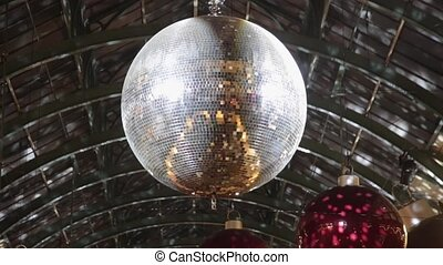 Disco Ball - Christmas Decoration With Disco Ball and...