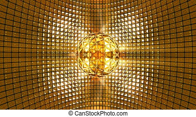 Disco Ball Golden Background
