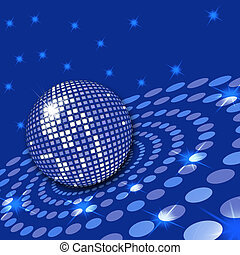 Illustration of a disco ball