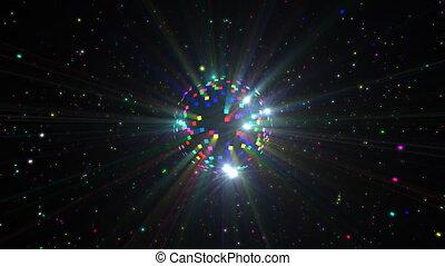 Disco Ball Lights - Disco ball seamless looping video for...