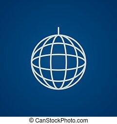 Disco ball line icon. - Disco ball line icon for web, mobile...