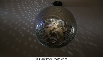 Disco Ball Mirrors Spin. Disco ball spinning and sparkling as it rotates on a perfect loop.