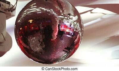 Disco ball on banquet - Rotating light equipment at festive...