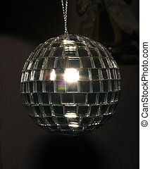 disco ball over a dark background