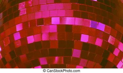 Disco Ball. Pink.