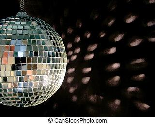disco ball reflections - shiny disco ball on back backgound