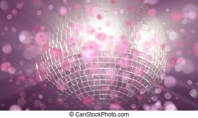 Disco ball shinning with bubble animation