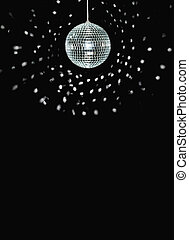 disco ball - spinning discoball, over black background,...