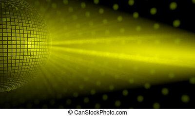 Disco ball witha light rays