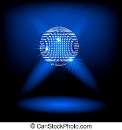 Disco ball vector background