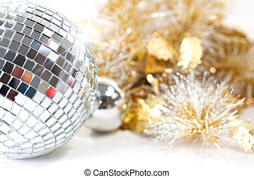 Disco ball with christmas decoration