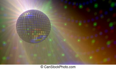 Disco ball witha light rays