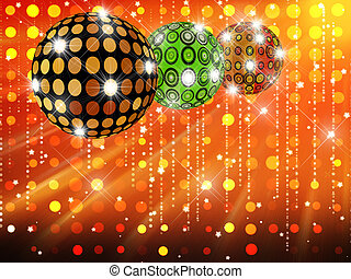 Disco balls and spot light
