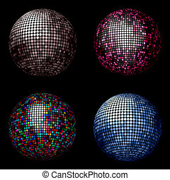 Disco balls - Various different coloured disco balls