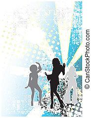 disco blue background 1