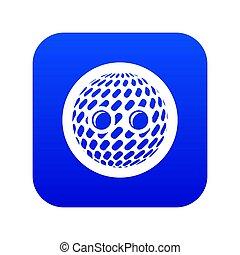 Disco button icon blue
