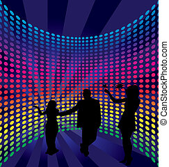 disco - Disco dance background. Vector illustration.