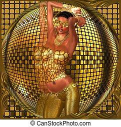 Disco club dance girl - Disco ball dance girl. A sexy girl...