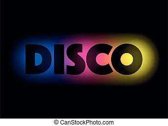 disco, coloré, fond