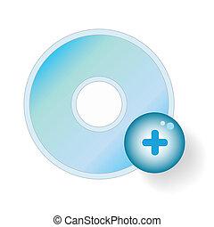 disco compacto, adicionar, ícone