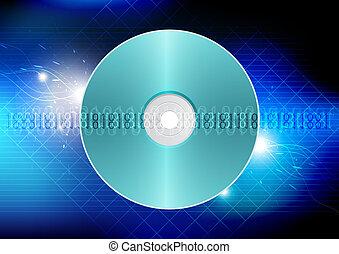 disco, conceito, tecnologia, fundo