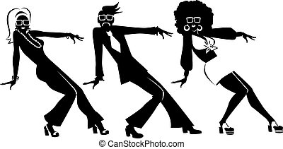 Disco dance clip-art