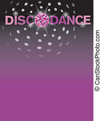 Disco Dance - Disco dance background with area for text.