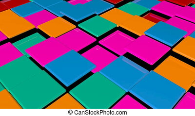 Disco Dance Floor. Abstract background. Seamless loop