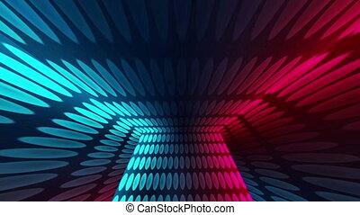 Disco Dance Lights Room, Animation