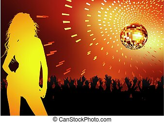 Disco Dance Party - background illustration