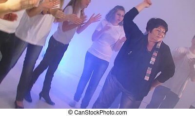 Disco Dance. Slow motion