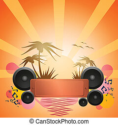Disco Dance Tropical Music Flyer.