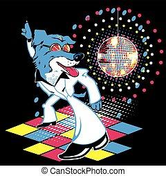A disco dancing mutt