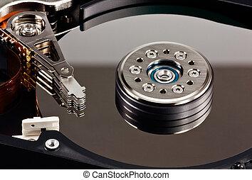 disco duro, computadora maneja, 4