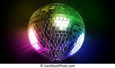 disco, fénysugár, szín, labda