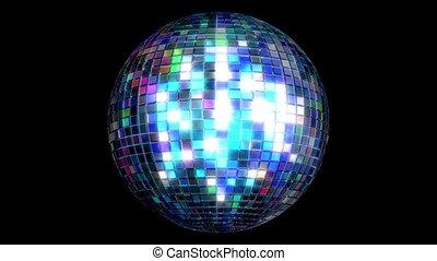 disco, faire boucle, balle, animation, 3d