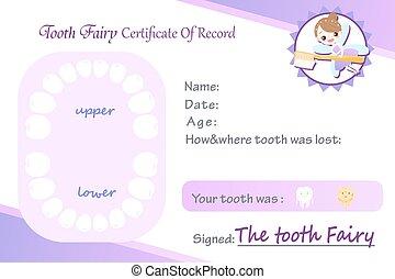 disco, fata, dente, certificated