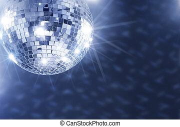 Disco Fever - A Mirror disco ball hanging from the ceiling.