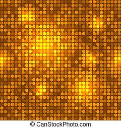 Disco golden background seamless pattern.