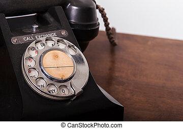 disco, gpo, vindima, -, cima, telefone giratório, fim, 332