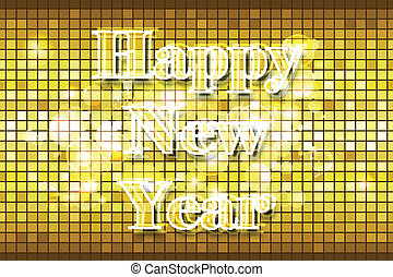 Disco Happy New Year - illustration of Happy New Year on...