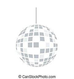 disco, icône, fête, sphère