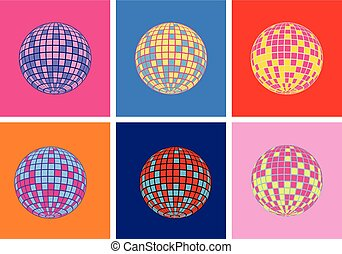 disco, icône, vecteur, balle