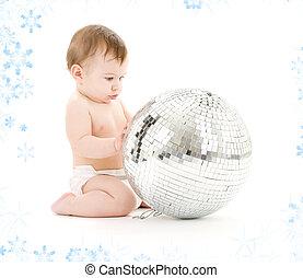 disco, jongen, bal, baby, groot